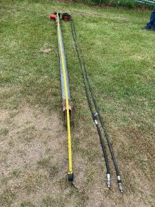 "*Approx 4""X11'6"" pencil auger w/hydraulic motor"