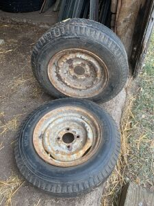 *530-12 Electra trailer tire with 4-bolt rim